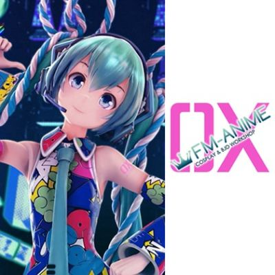 Vocaloid Hatsune Miku EXPO 5th Anniv. Lucky☆Orb UTA X KASOKU Cosplay Temporary Tattoo Stickers