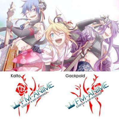Vocaloid Kaito Gackpoid Sakura Maichirinu Scattered Cherry Blossoms Cosplay Temporary Tattoo Stickers
