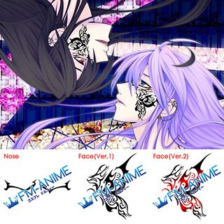 Vocaloid Gakupo Paranoid Doll Cosplay Tattoo Stickers