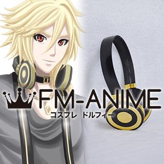 Vocaloid Yohioloid Black & Gold Headphone Cosplay Accessories Prop