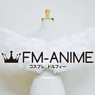 Black / White Fur Wings Cosplay Accessories Prop