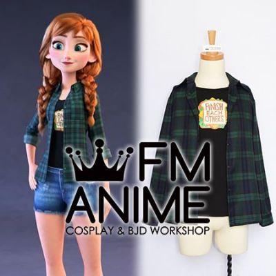 Wreck it Ralph 2 Ralph Breaks the Internet Frozen Disney Princess Casual Anna Cosplay Costume