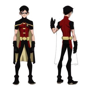 Young Justice (Series 1) Robin Dick Grayson Cosplay Costume