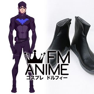 DC Universe Young Justice (TV series) Nightwing Cosplay Shoes Boots