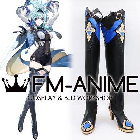 Genshin Impact Eula Lawrence Cosplay Shoes Boots