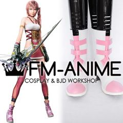 Final Fantasy XIII-2 Serah Farron Cosplay Shoes Boots (Pink)