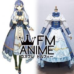 Fire Emblem Echoes: Shadows of Valentia Rinea Blue Dress Cosplay Costume