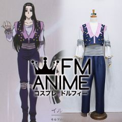 Hunter × Hunter Illumi Zoldyck Blue Cosplay Costume