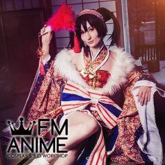 Love Live! Nico Yazawa SR Card A Fuku Musume is Here New Year Kimono Cosplay Costume