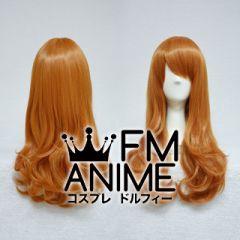 Medium Length Wavy Mixed Orange Brown Cosplay Wig (65cm)