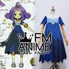 Pokemon Sun and Moon Acerola Blue Dress Cosplay Costume
