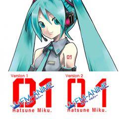 Vocaloid Hatsune Miku Arm 01 Cosplay Tattoo Stickers